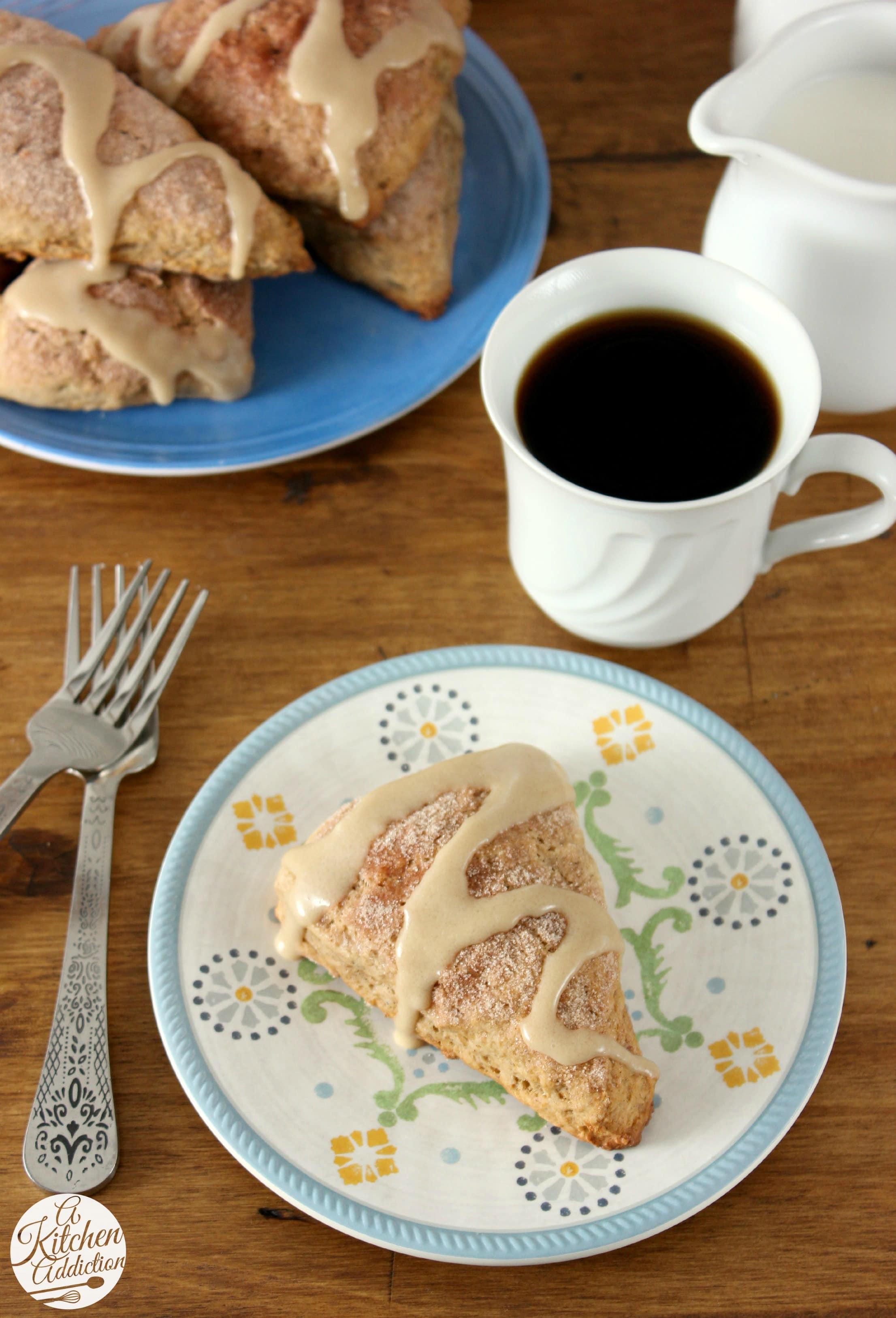 Banana Bread Scones Recipe l www.a-kitchen-addiction.com
