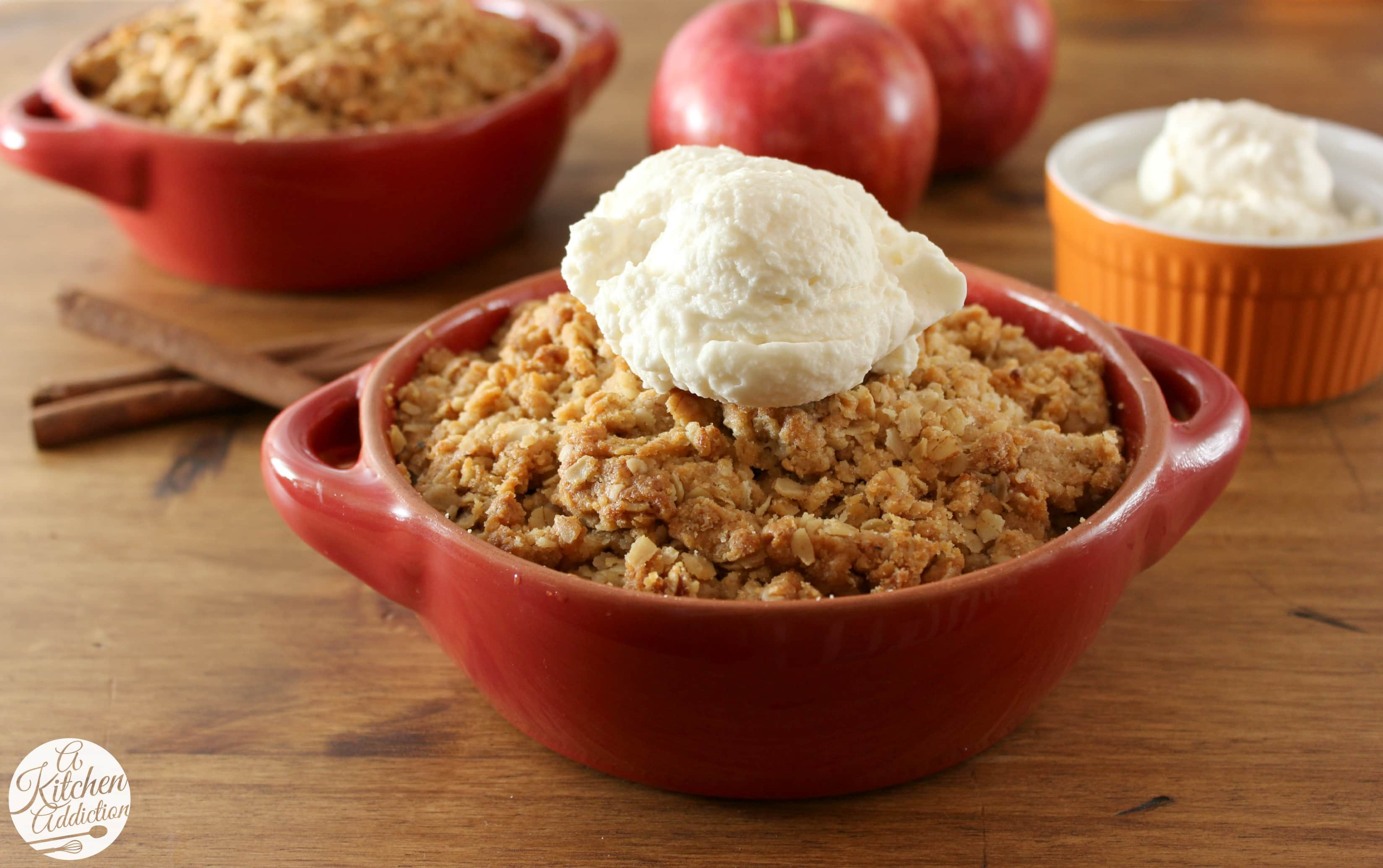 easy peanut butter apple crisp recipe l wwwa kitchen addictioncom - Crisp Kitchen