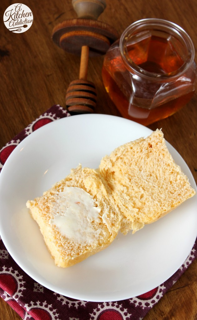 Sweet Potato Dinner Rolls with Honey Butter Glaze Recipe l www.a-kitchen-addiction.com
