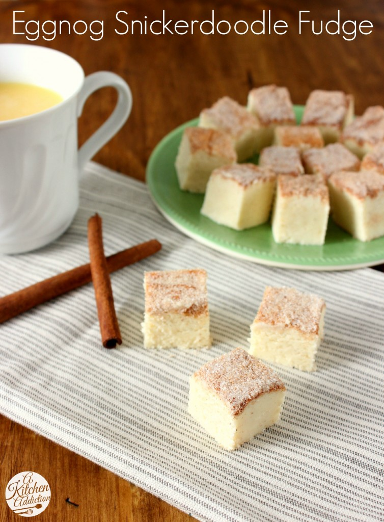 Eggnog Snickerdoodle Fudge Recipe l www.a-kitchen-addiction.com