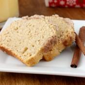 Eggnog Streusel Bread Recipe l www.a-kitchen-addiction.com