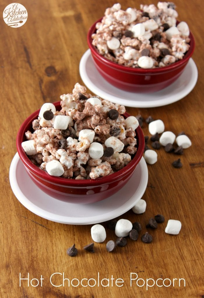Hot Chocolate Popcorn Recipe l www.a-kitchen-addiction.com