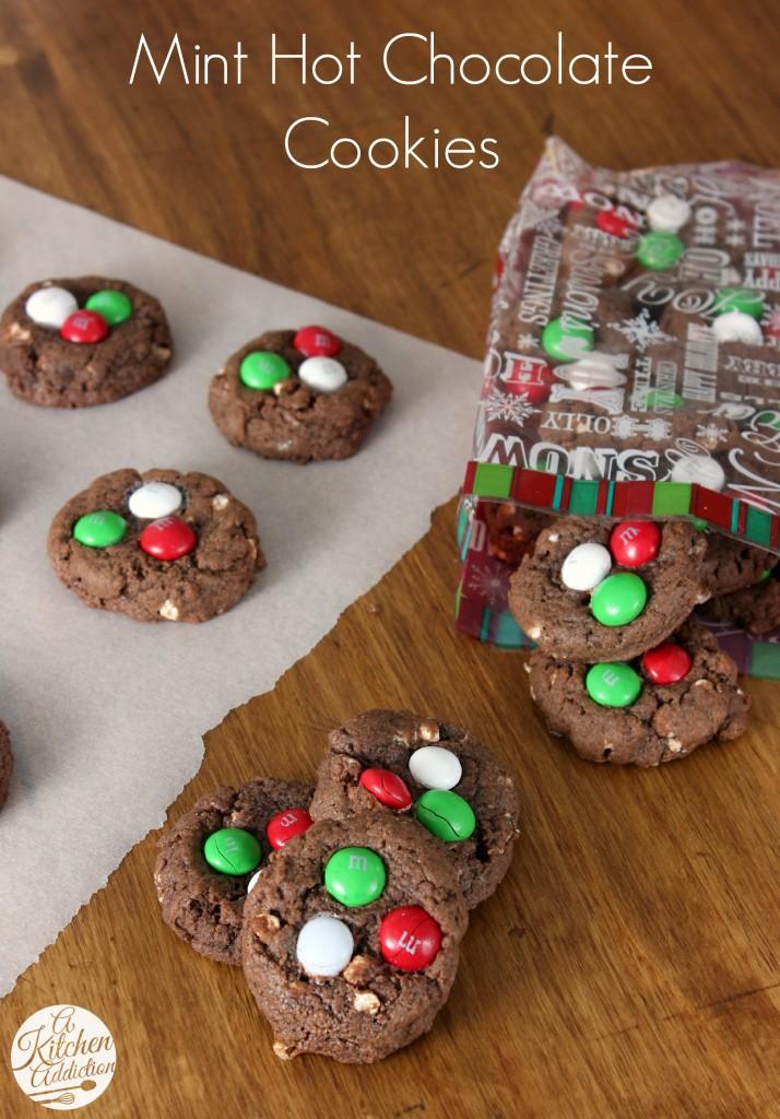 Mint Hot Chocolate Cookies Recipe l www.a-kitchen-addiction.com