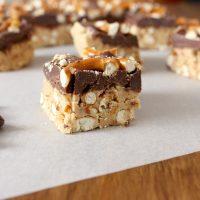 Sweet & Salty Peanut Butter Chocolate Pretzel Bars