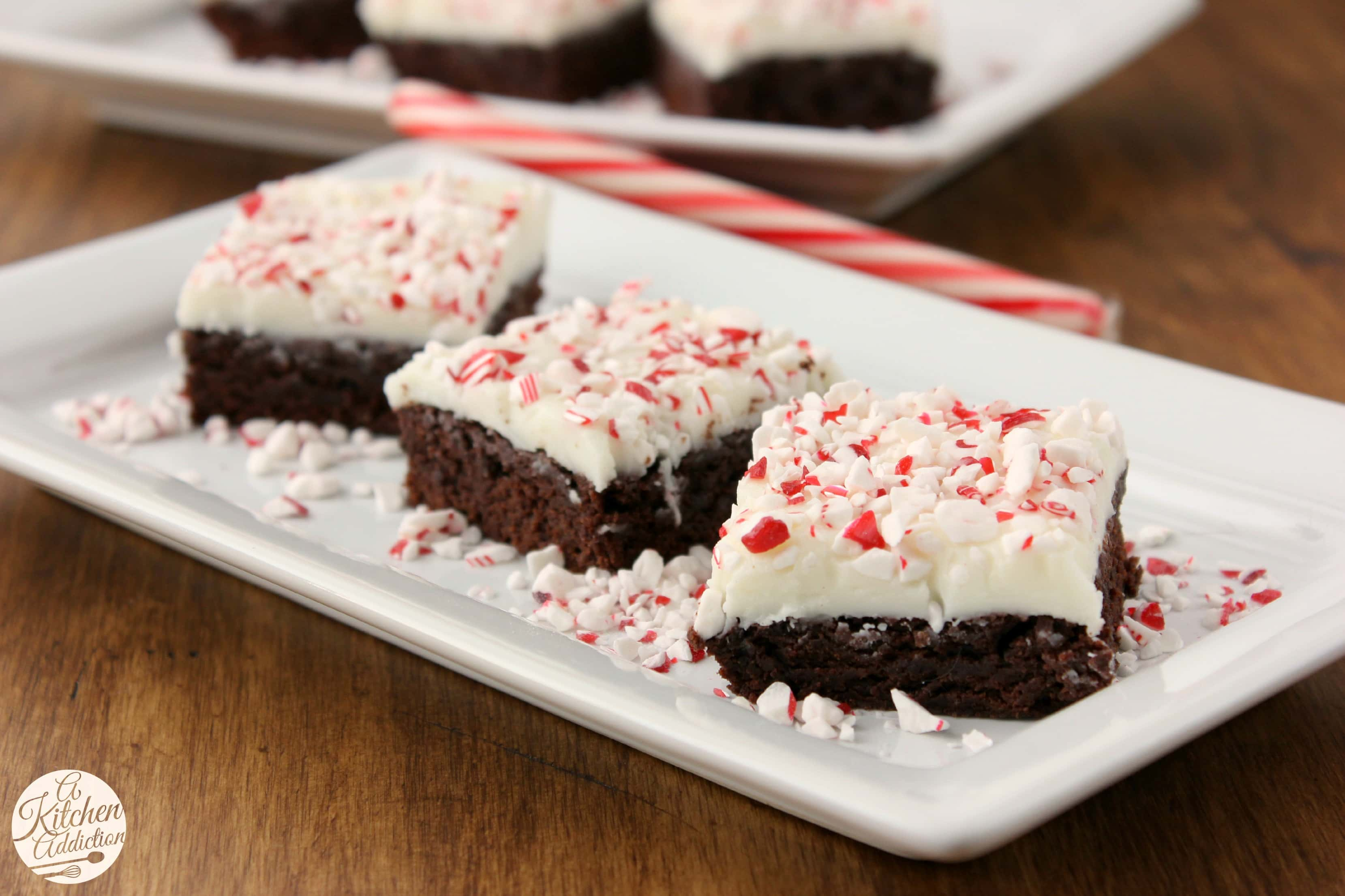 Peppermint Bark Brownies - A Kitchen Addiction