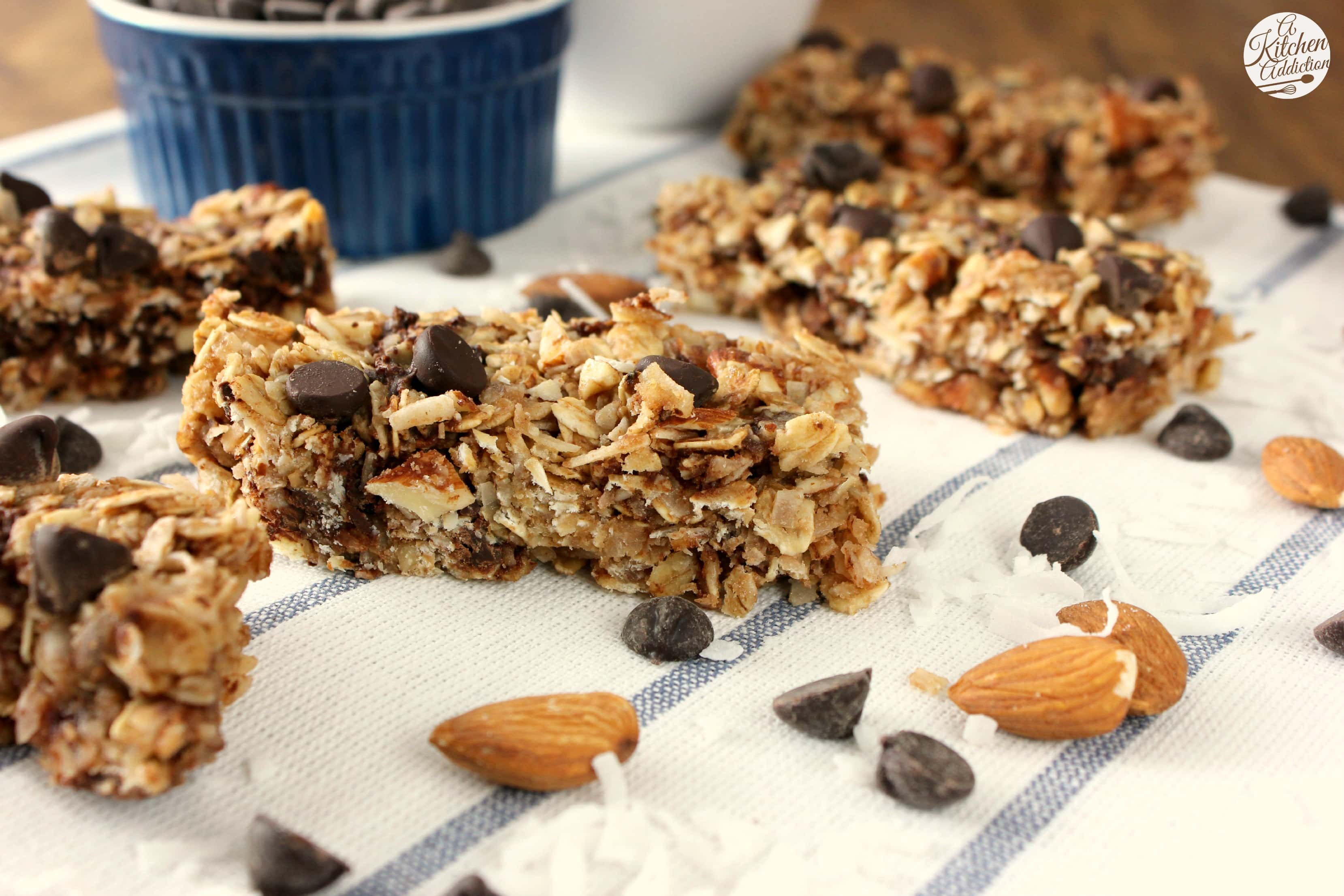 Almond Joy Granola Bars - A Kitchen Addiction