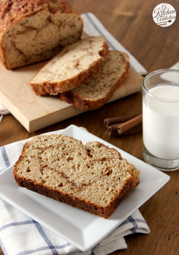Cinnamon Swirl Yogurt Quick Bread Recipe l www.a-kitchen-addiction.com
