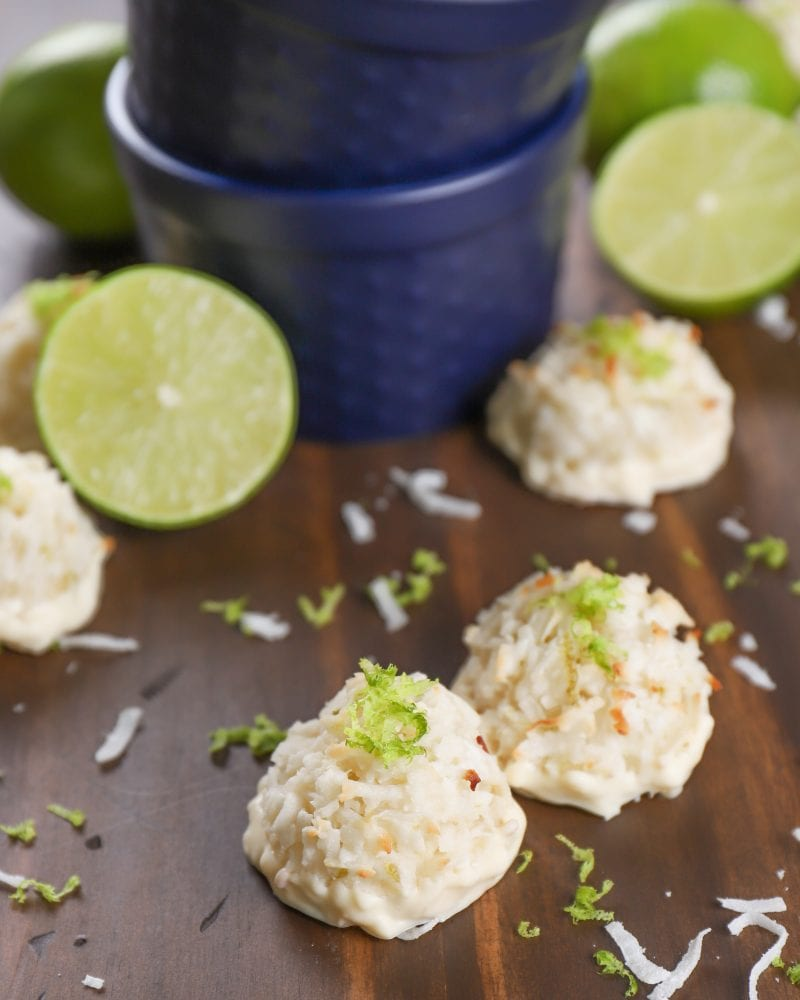 Coconut Lime Macaroons Recipe from A Kitchen Addiction
