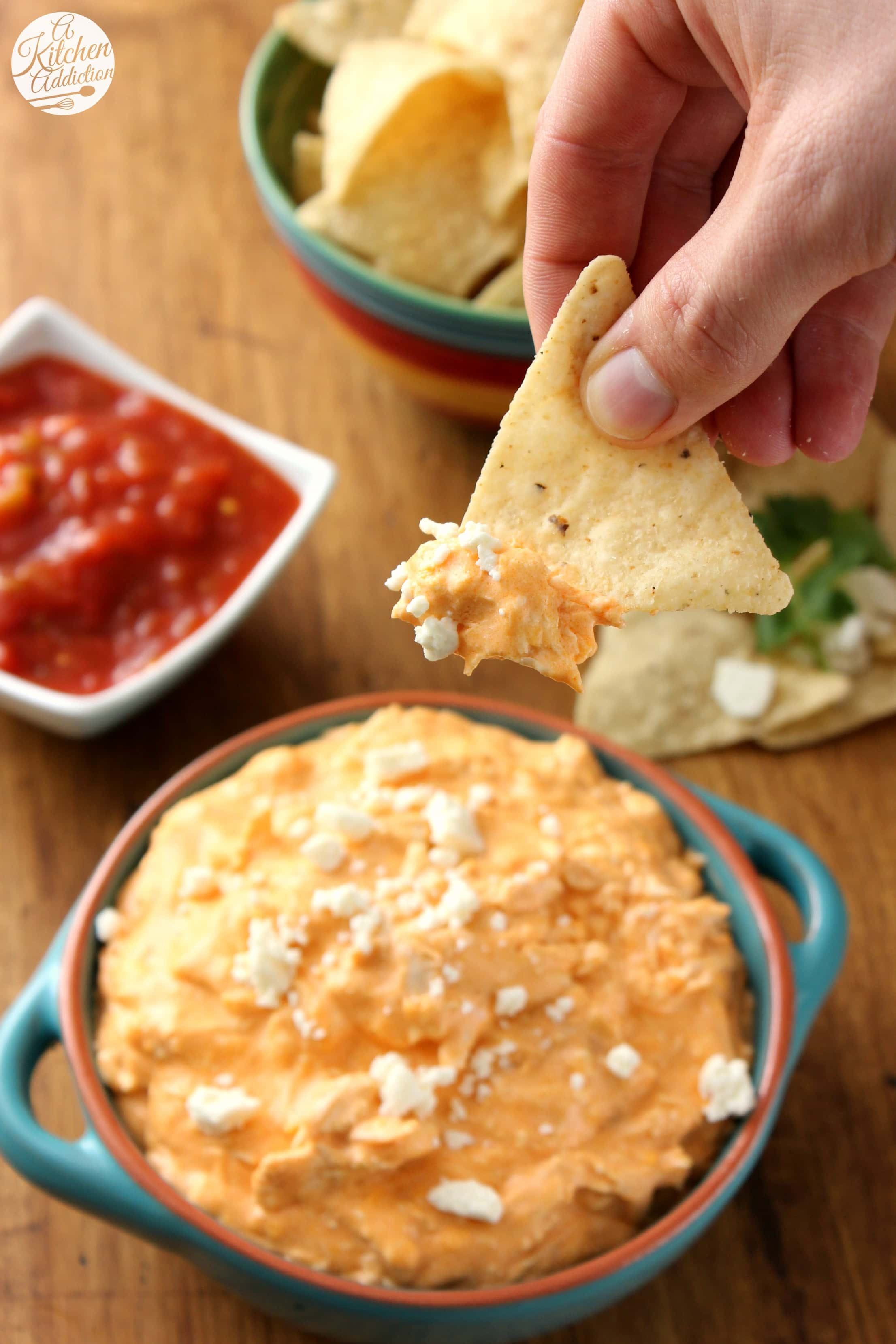 Crock Pot Buffalo Chicken Dip A Kitchen Addiction