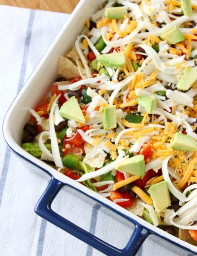Lightened Up Taco Dip Recipe from A Kitchen Addiction