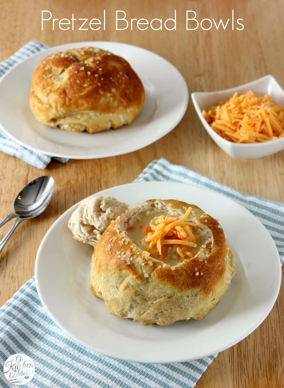 Pretzel Bread Bowls A Kitchen Addiction