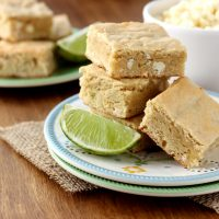 White Chocolate and Lime Blondies