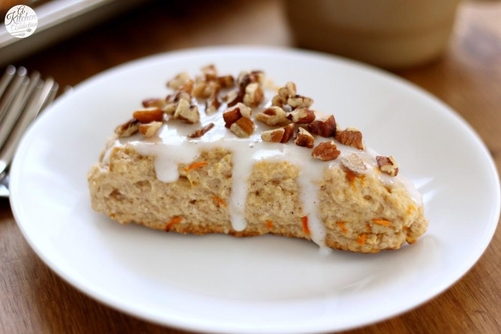 Carrot Cake Scones Recipe l www.a-kitchen-addiction.com