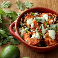 Chipotle Shrimp Bowls with Cilantro Lime Cream Sauce
