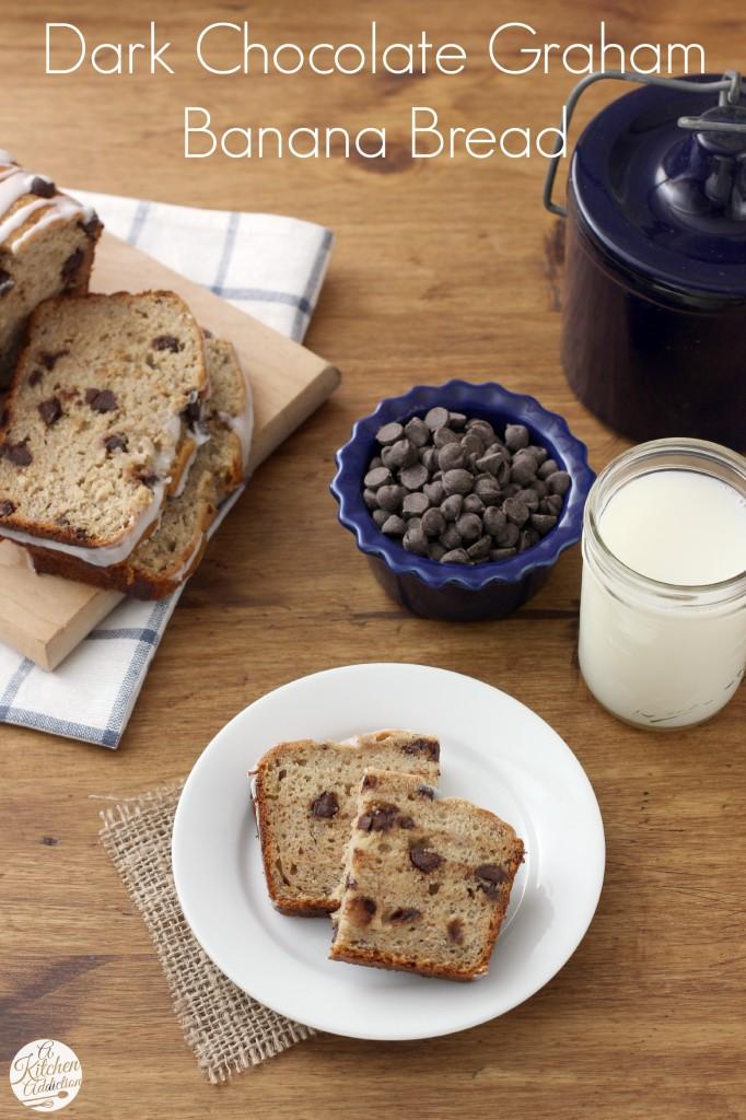 Dark Chocolate Chip Graham Bread Recipe l www.a-kitchen-addiction.com