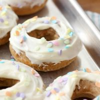 Carrot Cake Donuts with Cream Cheese Frosting