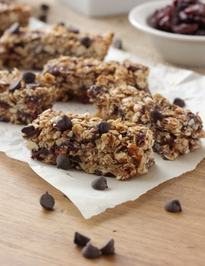 Dark Chocolate Cherry Almond Granola Bars