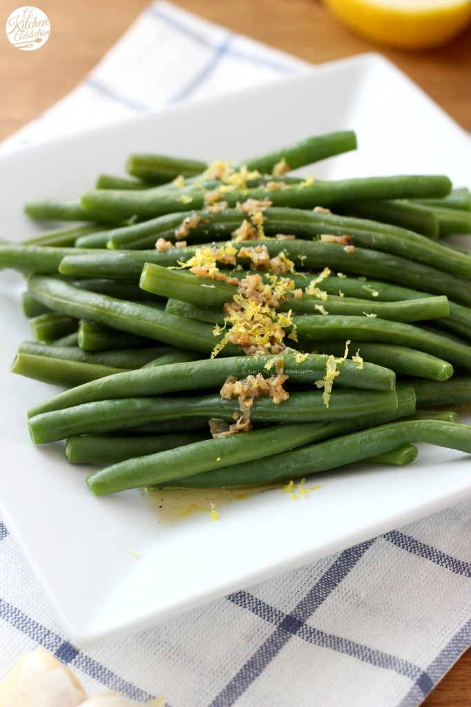 Easy Lemon Garlic Green Beans Recipe l www.a-kitchen-addiction.com