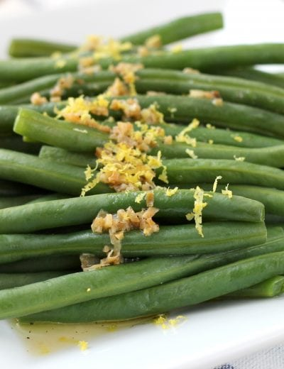 Easy Lemon Garlic Green Beans