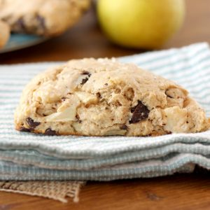 Salted Dark Chocolate Pear Scones
