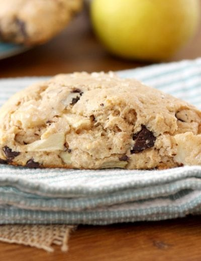 Salted Dark Chocolate Pear Scones Recipe l www.a-kitchen-addiction.com