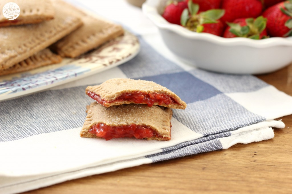 Strawberry Graham Toaster Pastries Recipe (whole wheat) - A Kitchen Addiction