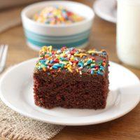 Wacky Cake with No Fail Fudge Frosting