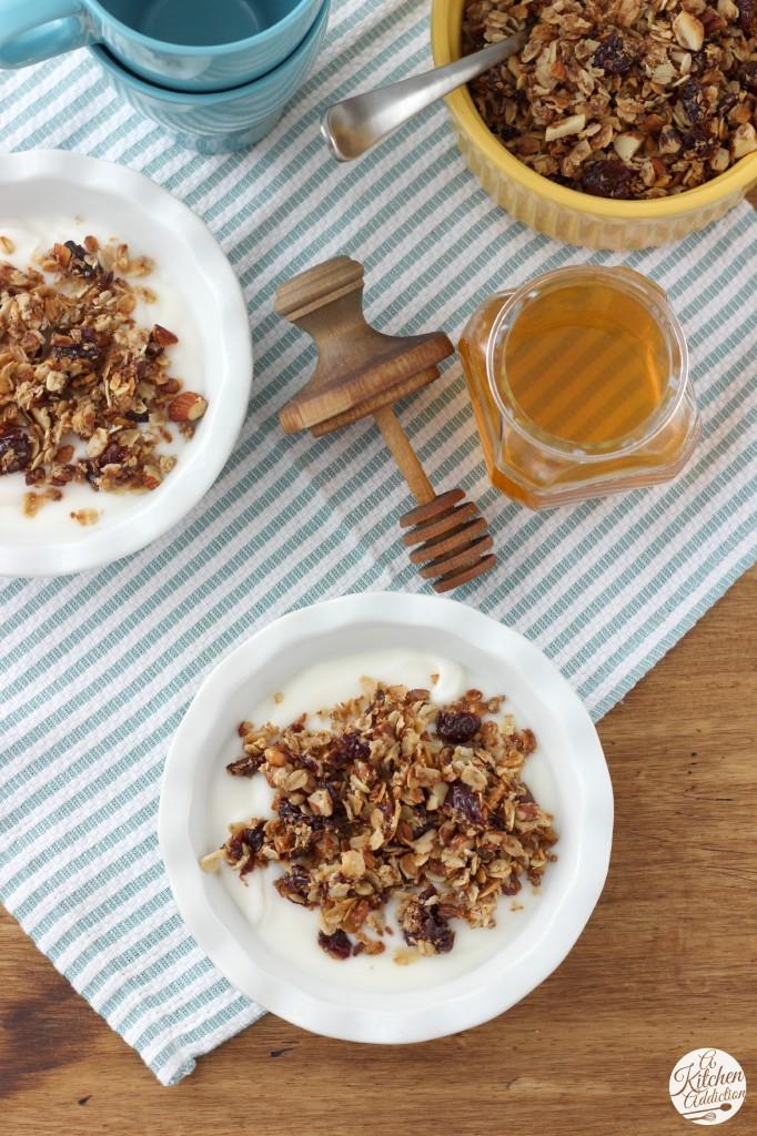 Cherry Vanilla Nut Skillet Granola from A Kitchen Addiction