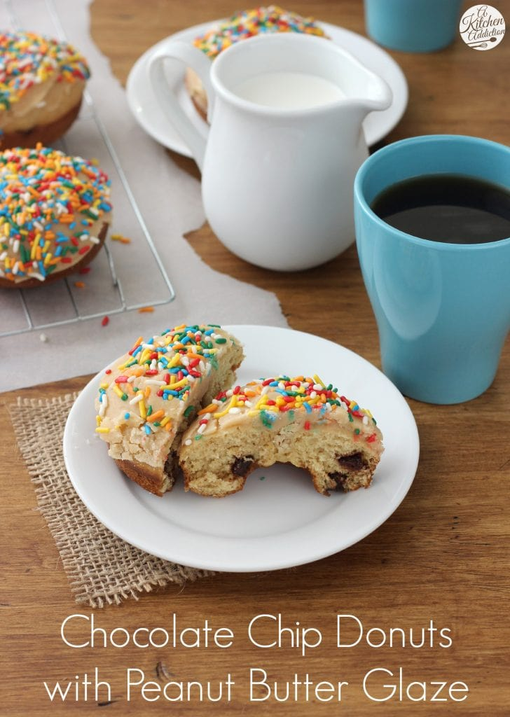 Baked Chocolate Chip Donuts Recipe from A Kitchen Addiction