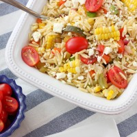 Fresh Corn and Tomato Orzo Salad