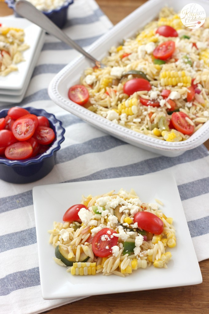 Fresh Corn and Tomato Salad Recipe from A Kitchen Addiction