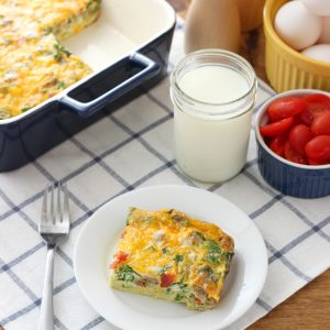Lighter Sausage and Egg Breakfast Casserole