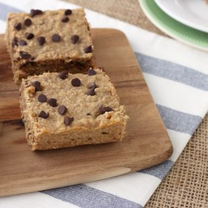 Peanut Butter Chocolate Chip Protein Breakfast Bars