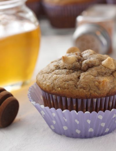 Peanut Butter Banana Honey Muffins Recipe from A Kitchen Addiction