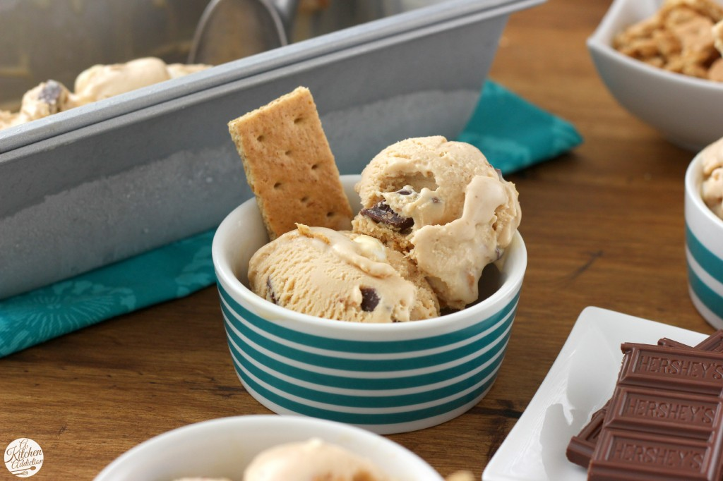 Peanut Butter S'mores Ice Cream Recipe from A Kitchen Addiction