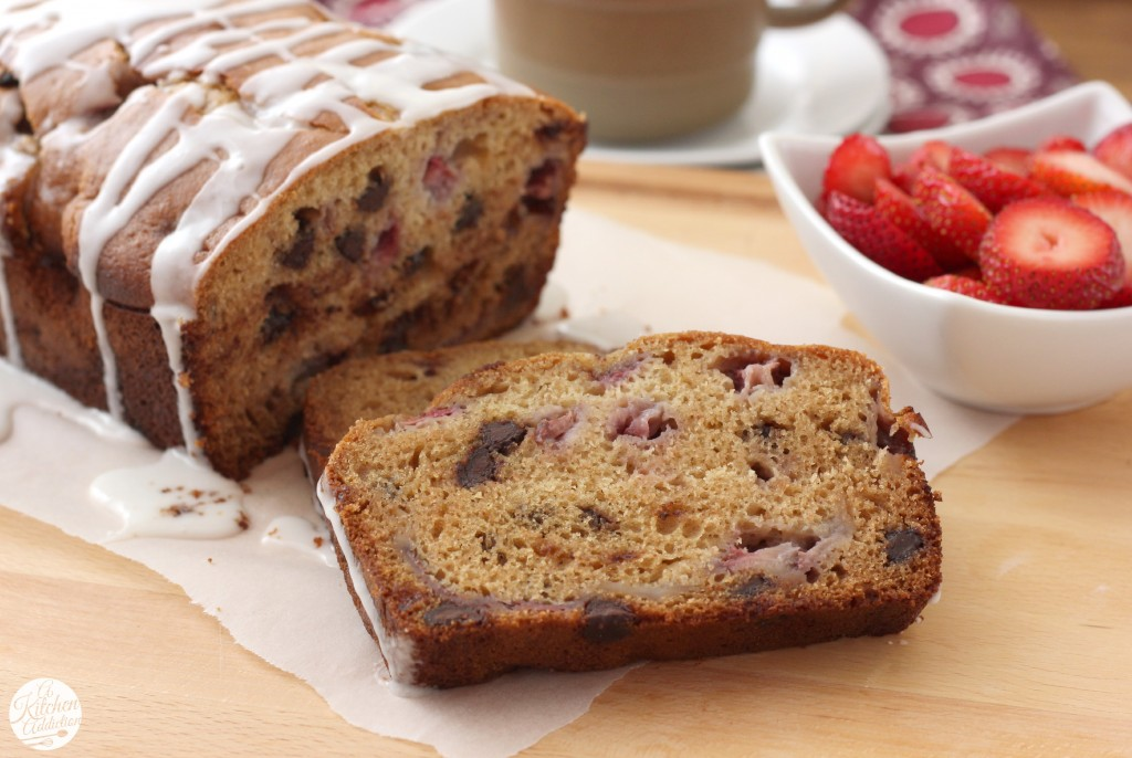 Strawberry Dark Chocolate Chip Graham Bread Recipe from A Kitchen Addiction