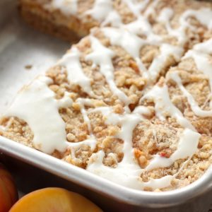Peaches and Cream Cheese Coffee Cake