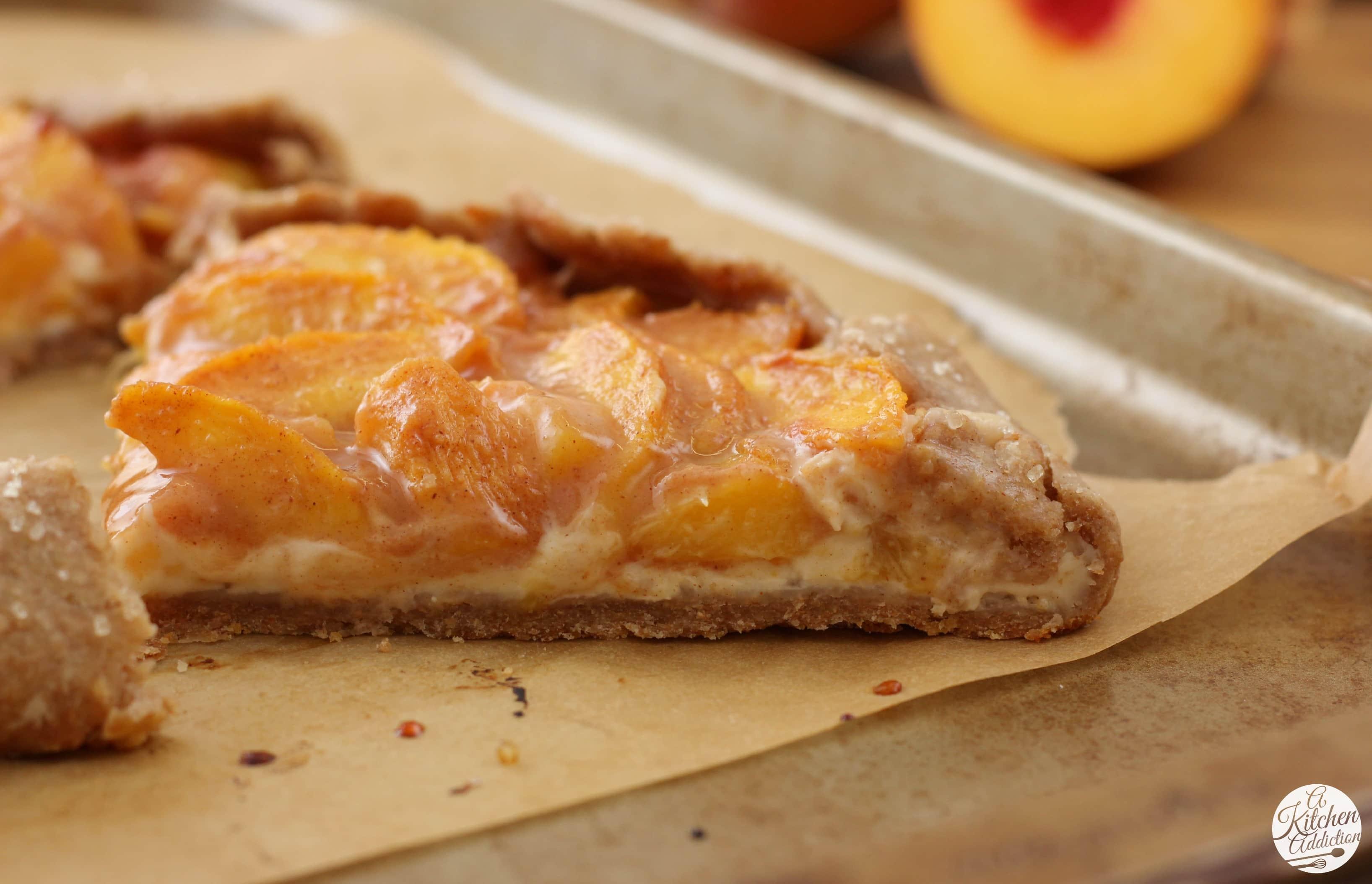 Peaches and Cream Crostata Recipe from A Kitchen Addiction