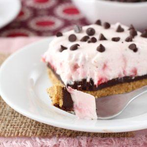 Strawberry Chocolate Ganache Cheesecake Bars
