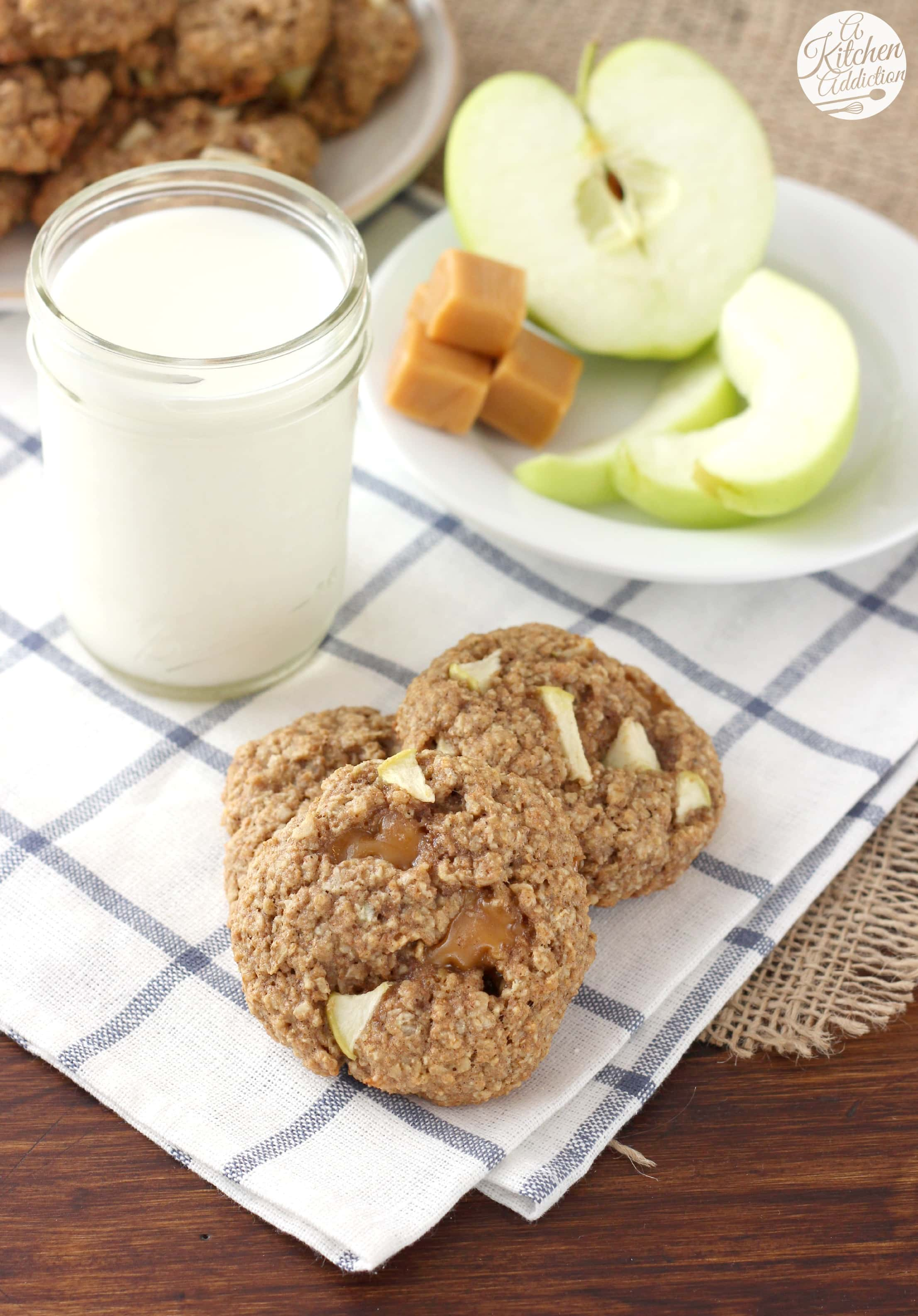 Caramel apple oatmeal cookies a kitchen addiction for A kitchen addiction