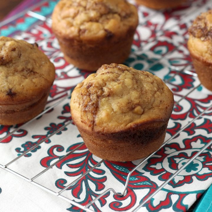 Cinnamon Maple Pancake Muffins Recipe l www.a-kitchen-addiction.com