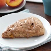Peach Snickerdoodle Scones Recipe l www.a-kitchen-addiction.com