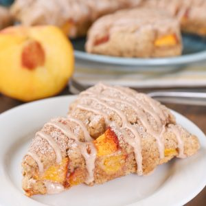 Peach Snickerdoodle Scones Recipe from A Kitchen Addiction Blog