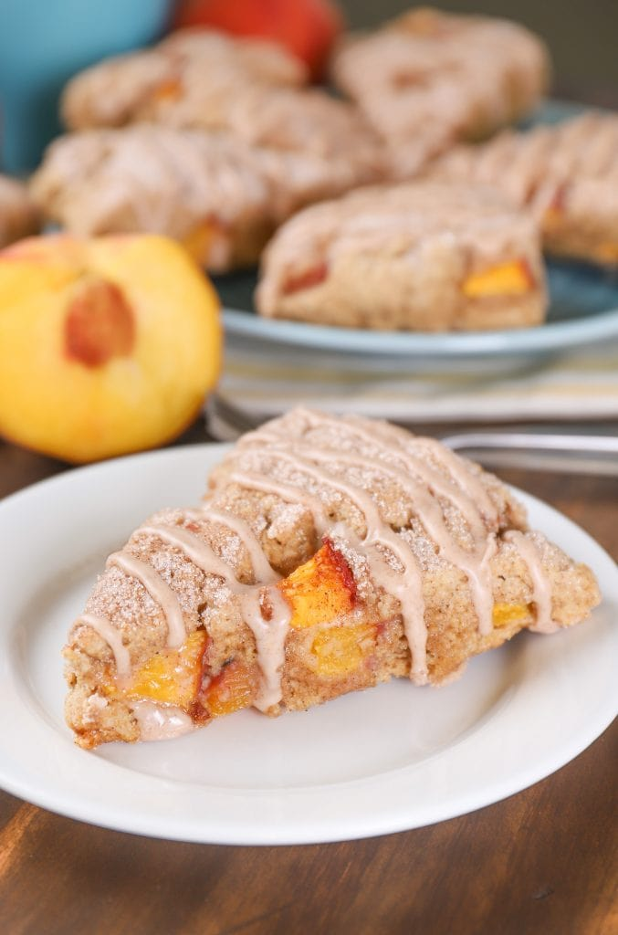 Peach Snickerdoodle Scones