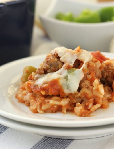 Lightened Up Stuffed Pepper Casserole