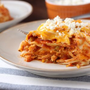 Slow Cooker Buffalo Chicken Lasagna Recipe l www.a-kitchen-addiction.com