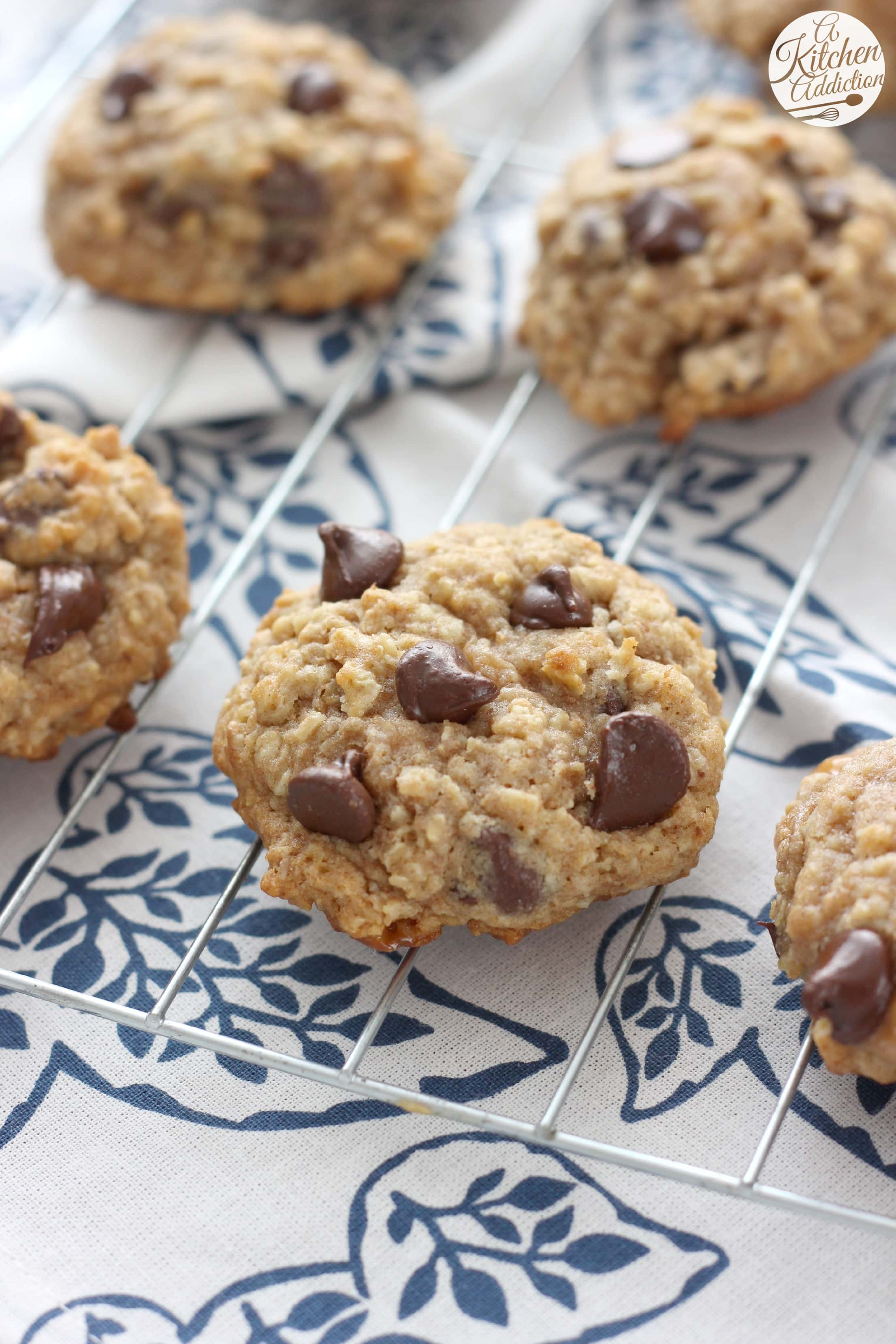 Caramel dark chocolate chip oat cookies 100 whole wheat a caramel dark chocolate chip oat cookies recipe l a kitchen addiction forumfinder Images