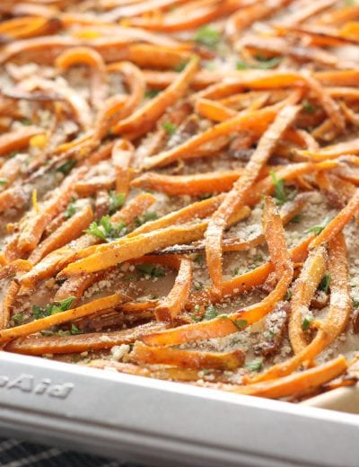 Garlic and Herb Sweet Potato Fries