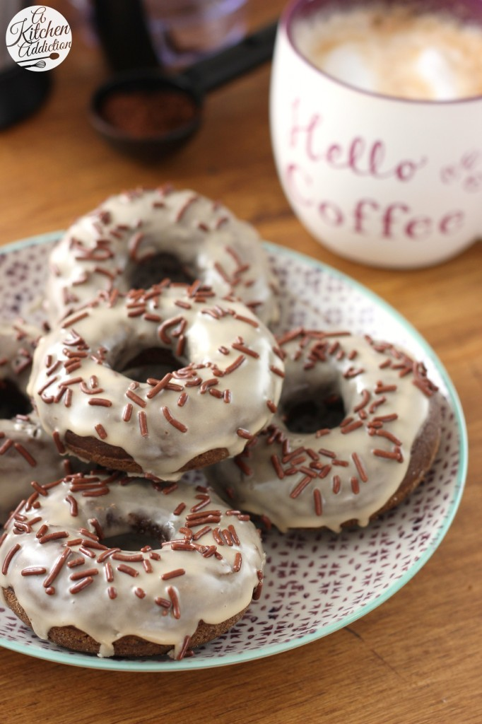 Mocha Chip Donuts Recipe l www.a-kitchen-addiction.com #CoffeeBuzz