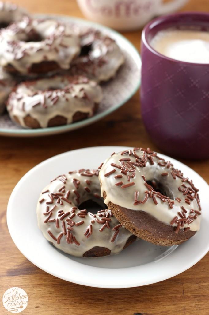 Mocha Chip Donuts Recipe l www.a-kitchen-addiction.com